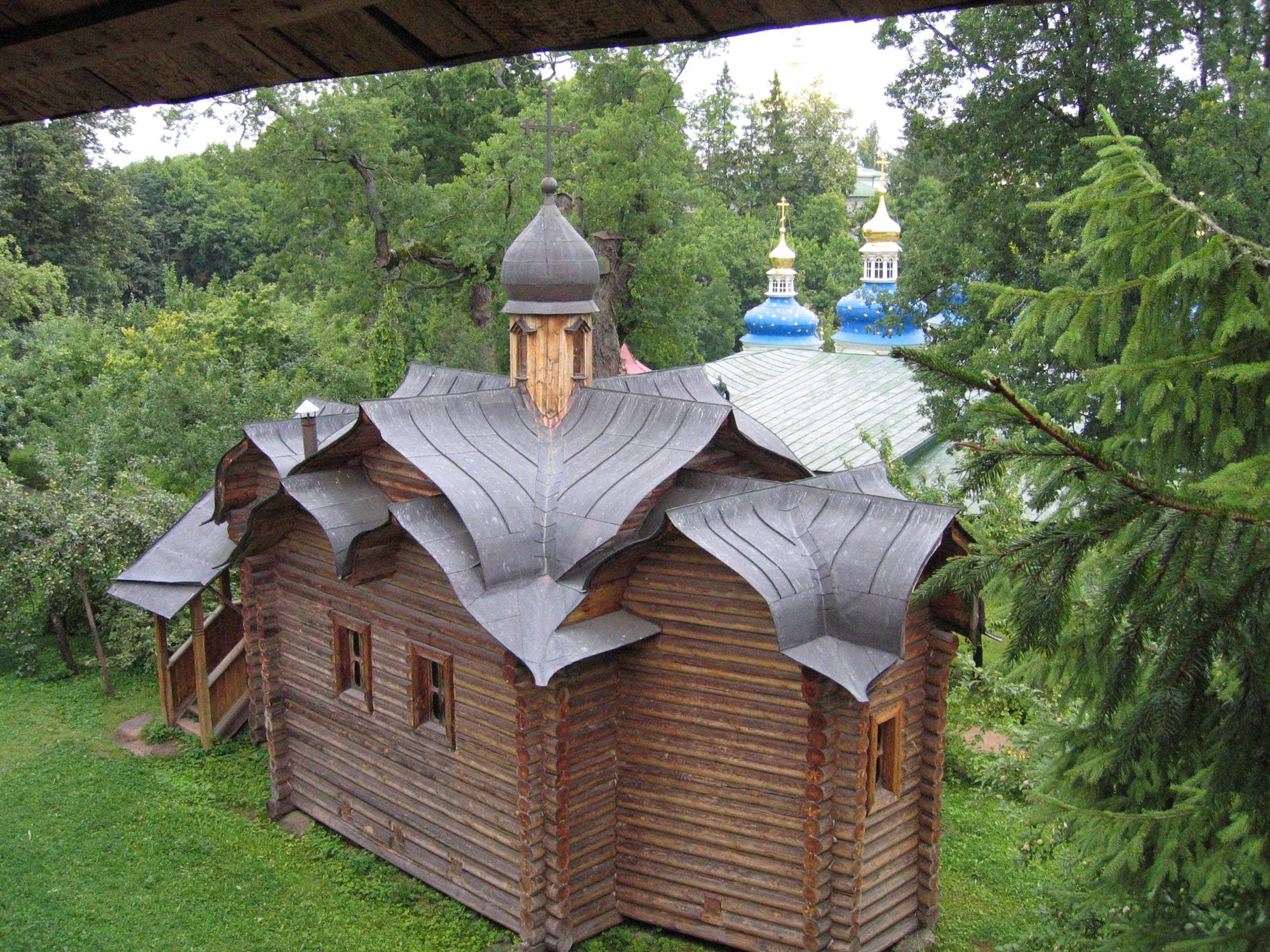 Деревянный храм на Святой Горке архитектора А. Сёмочкина
